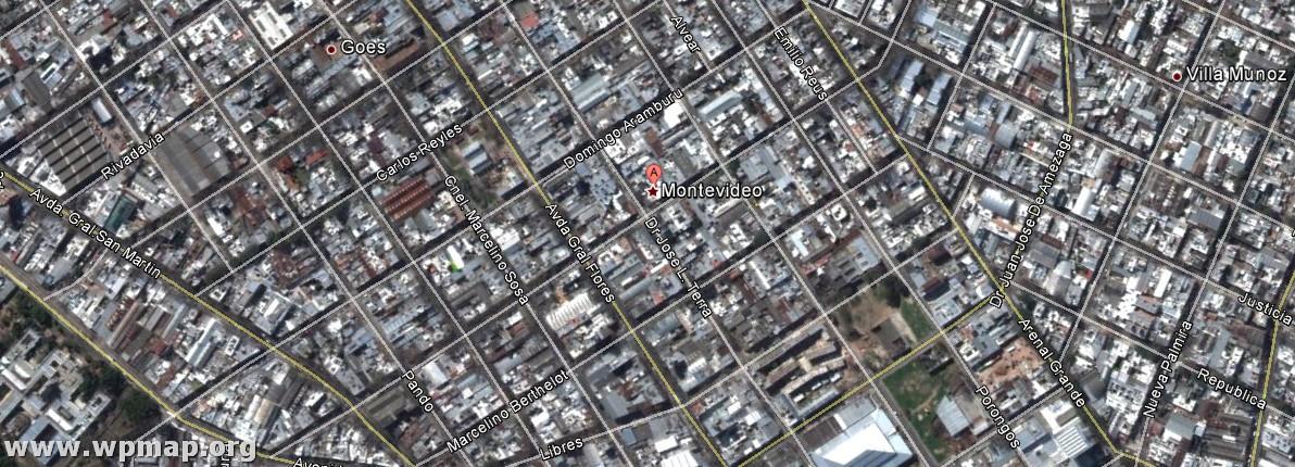 satellite map of montevideo