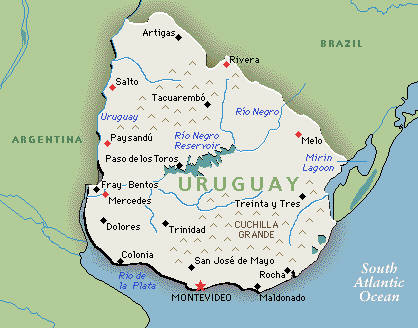Map Of Uruguay South America Maps Map Pictures - Map of uruguay