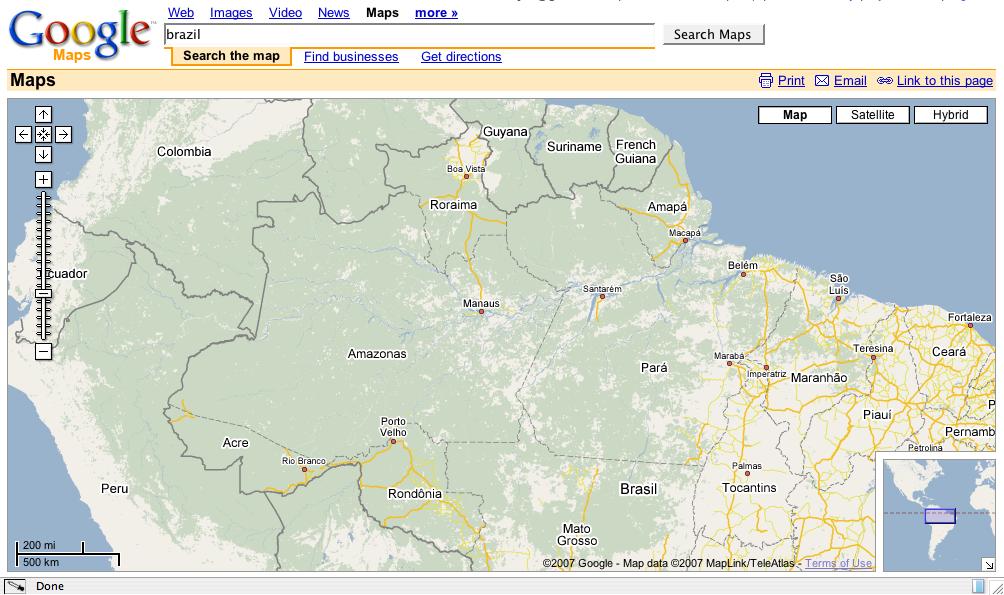 map of amazonas