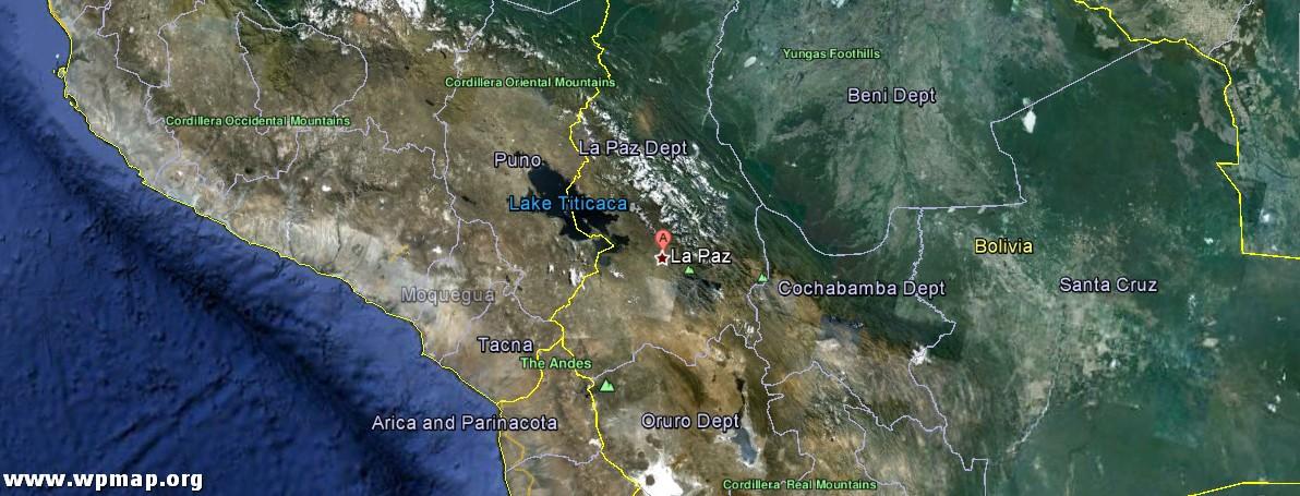 satellite map of la paz