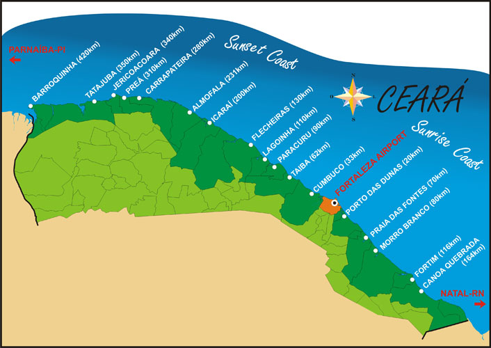 map of ceara