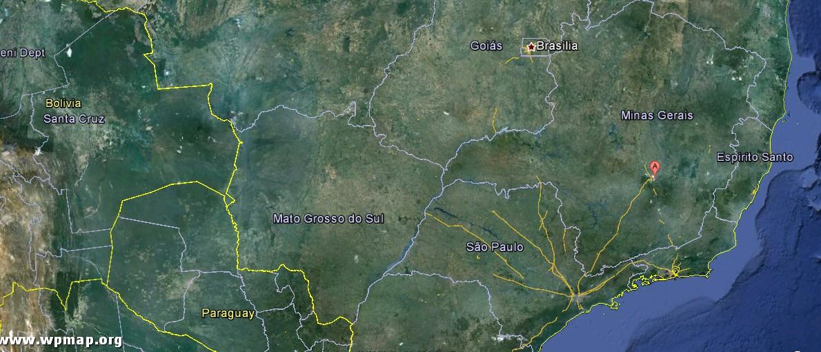 satellite map of belo horizonte