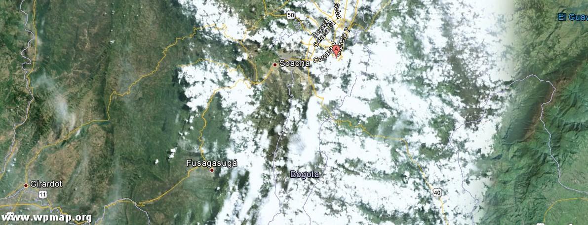 satellite map of bogota