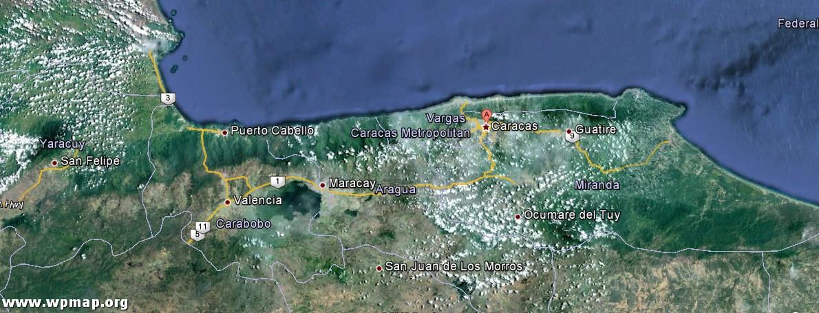 satellite map of caracas