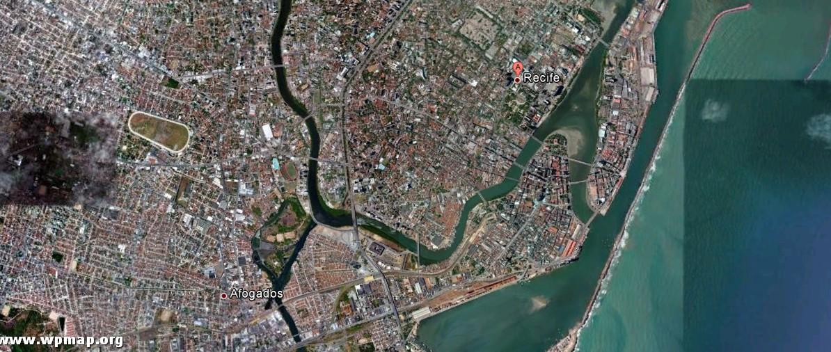 satellite map of recife