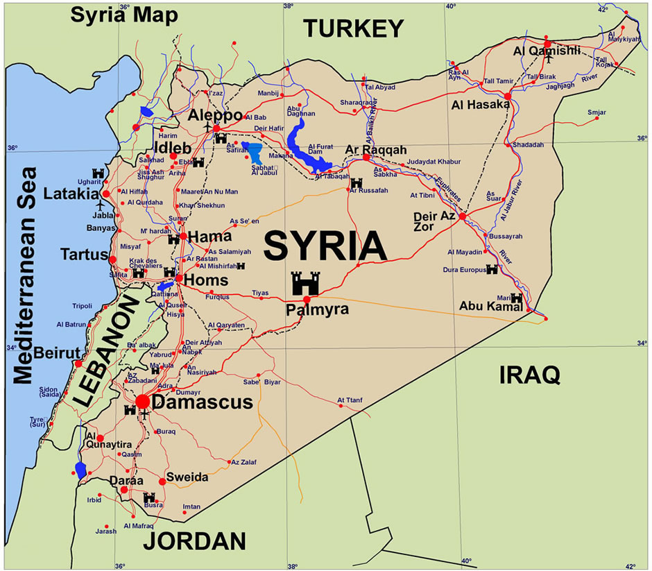 map of al hasakah   middle east maps   map pictures