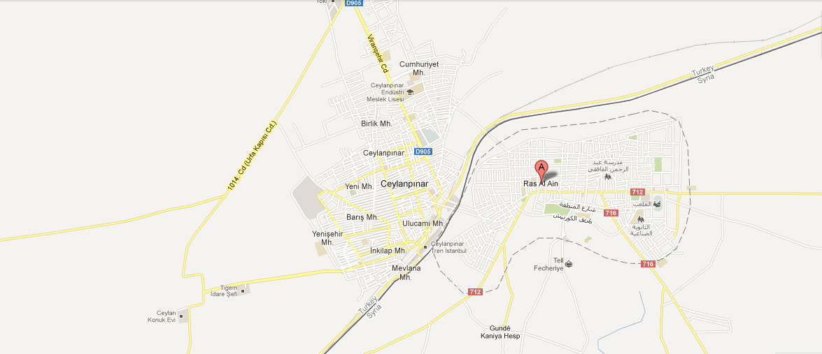 Map Of Ras Al Ain Middle East Maps Map Pictures - Al ain map