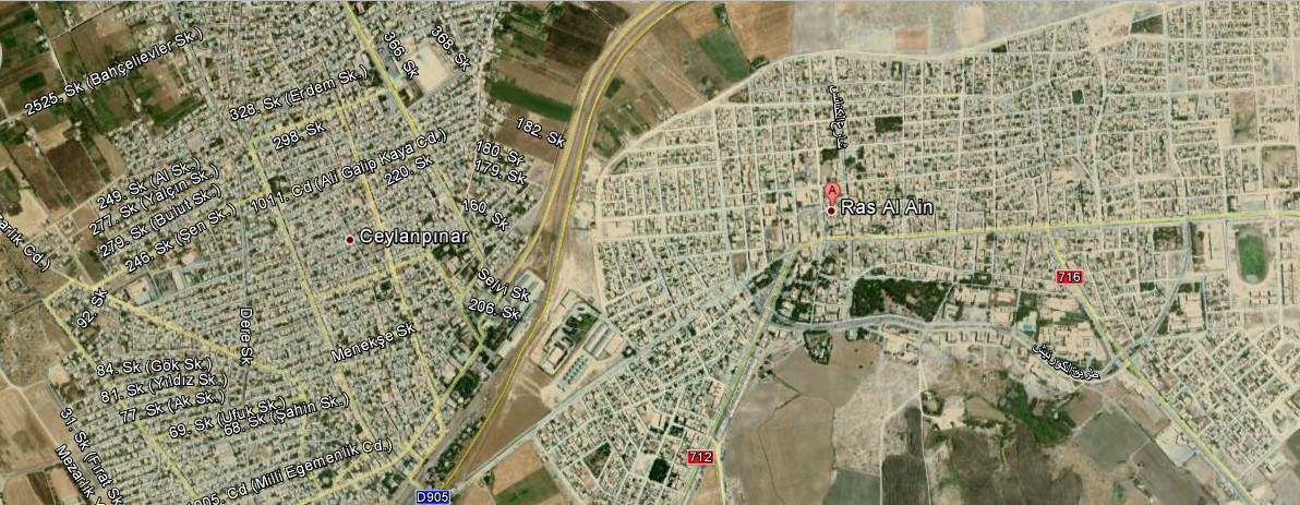 map of ras al ain Middle East Maps Map Pictures