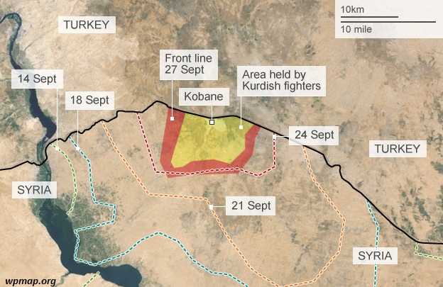 map of kobane Middle East Maps Map Pictures