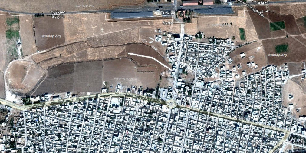 map of kobane