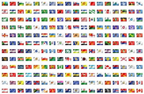 world flags World Maps Map