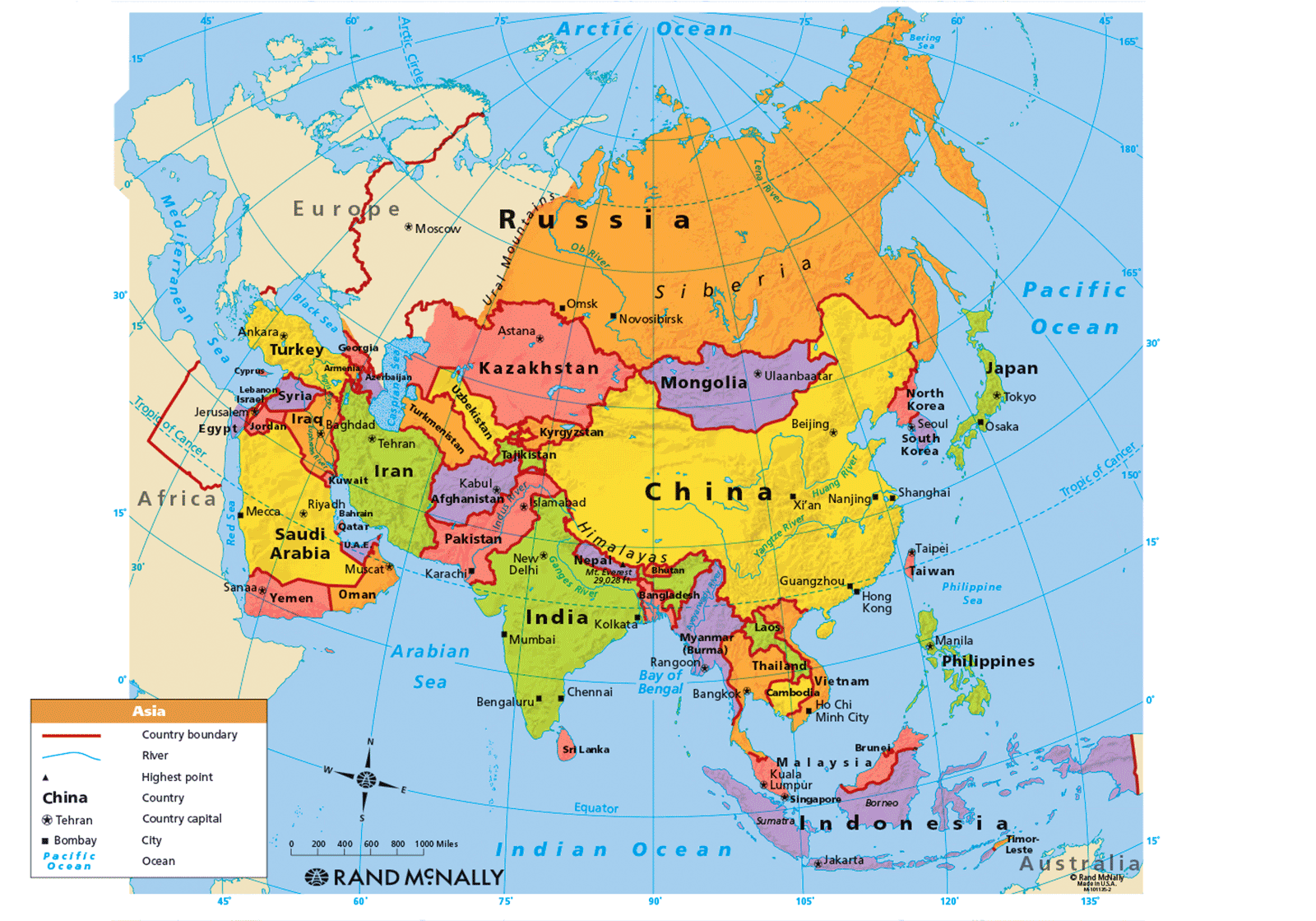 asia map political Asia Maps Map Pictures