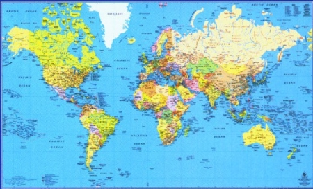 Printable World Maps World Maps Map Pictures - Map of the world detailed