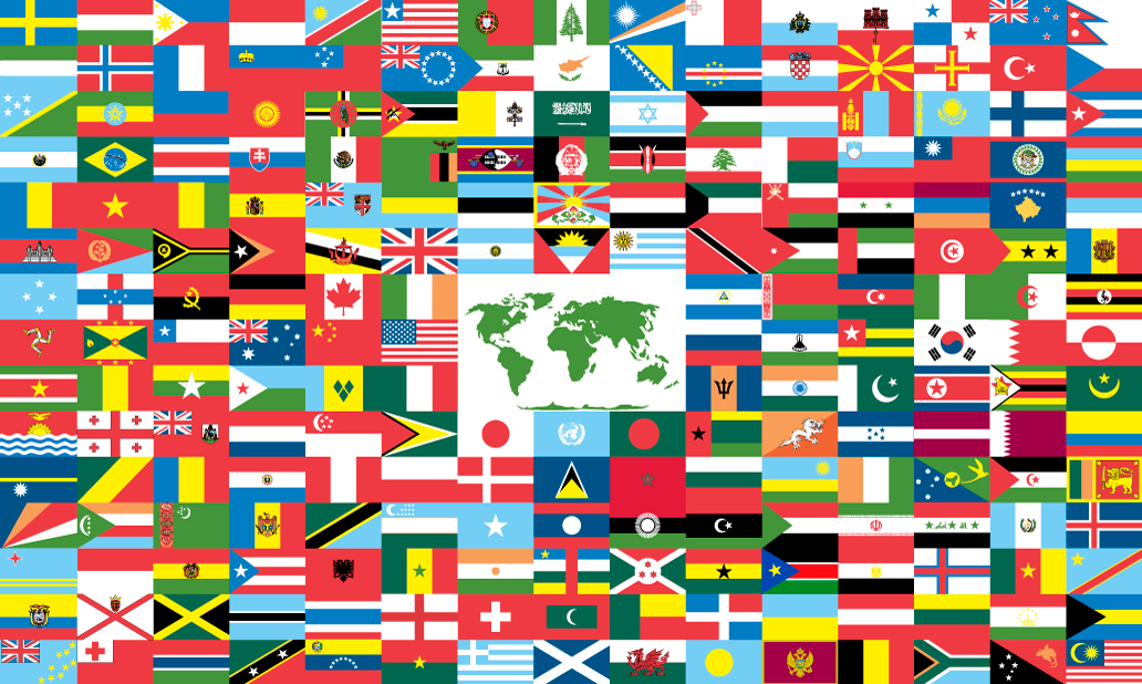 This is a graphic of Old Fashioned Flags of the World Printable Pdf