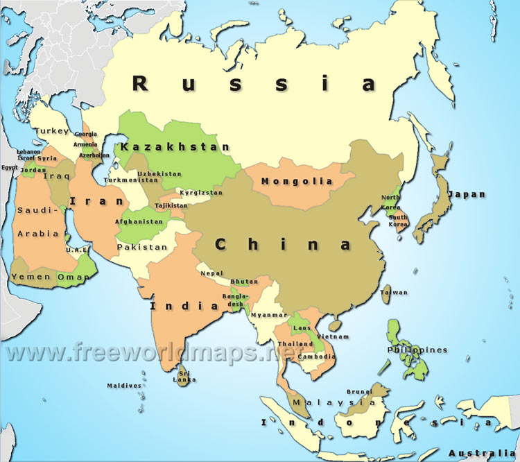 asia map political pictures Map Pictures