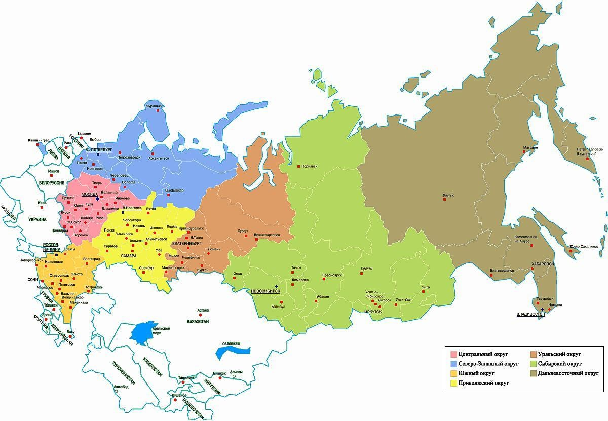 russian federation map - Map Pictures