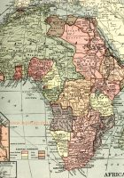 1910 map of the colonization of africa