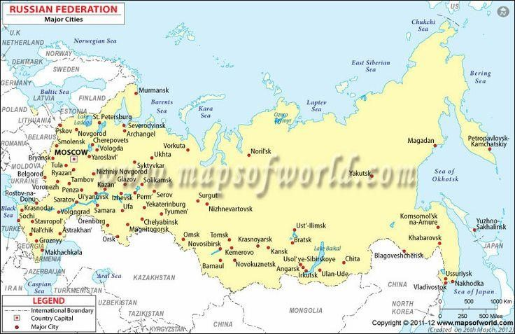 Map Of Russia With Cities - Russia map with cities