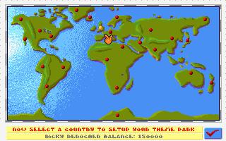 438899 Theme Park Amiga Screenshot World Map Amiga 1200