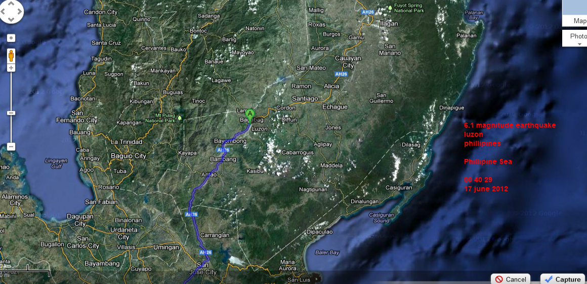 6 1 Earthquake Luzon To Philippines Google Maps 17 June