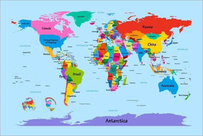 graphic relating to Printable World Map called entire world map youngsters printable