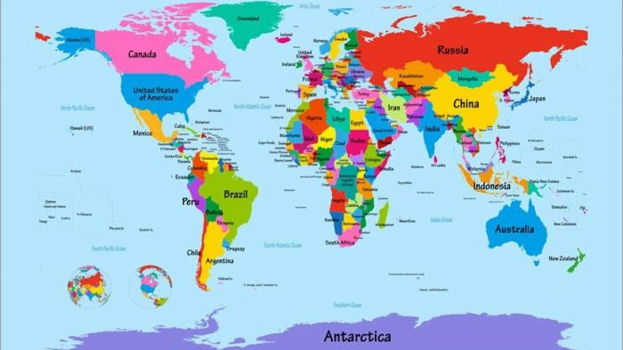 - World Map Kids Printable