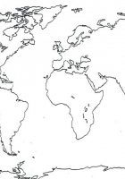 blank world map with antarctica