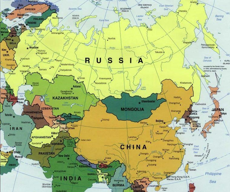 Map Of Russia And Europe Russian Federation Outline Map - Map of russia