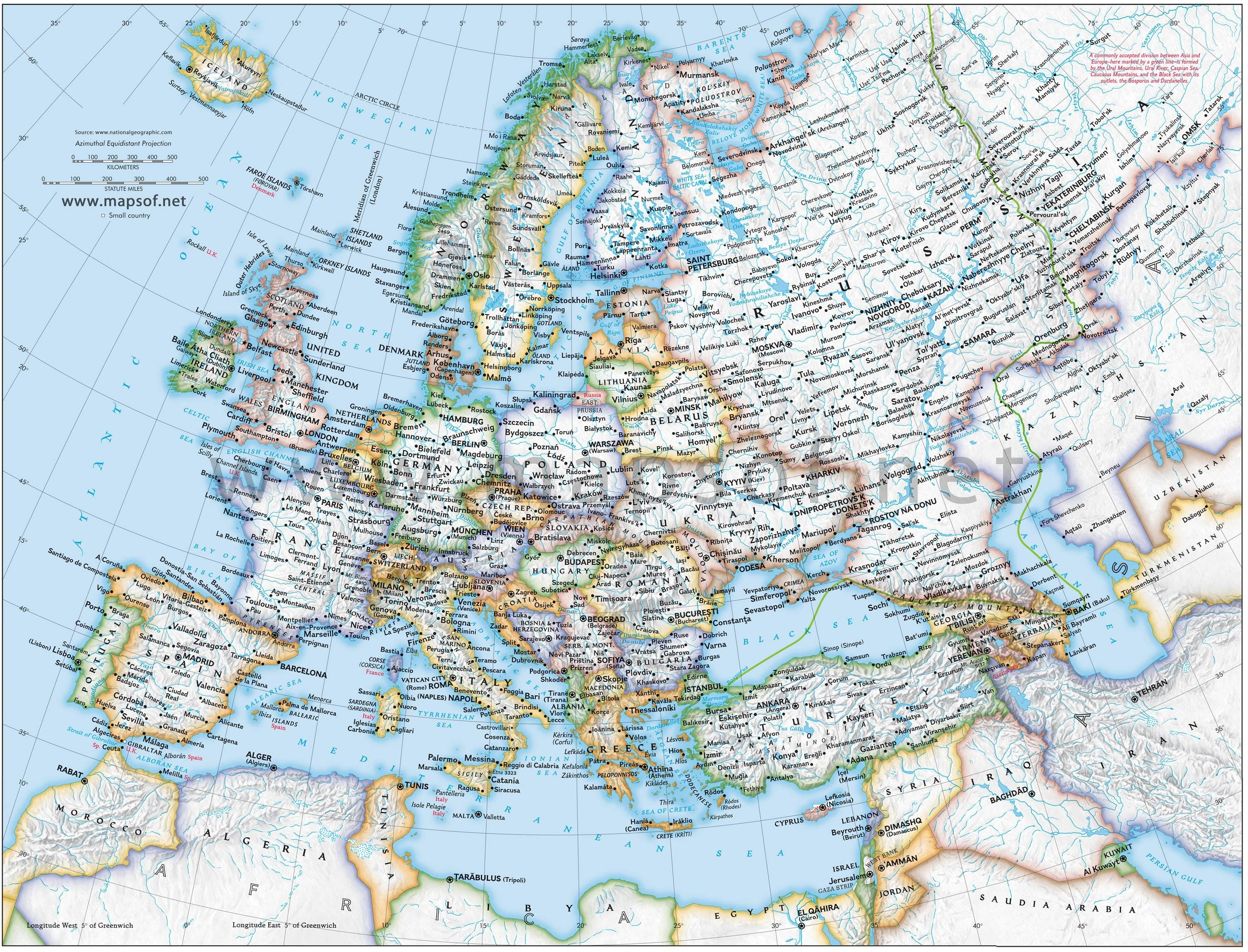 Europepoliticalmapjpg – Detailed Travel Map Of Europe
