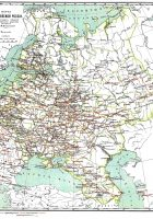 Map of Russia and Europe Russian Federation Outline Map
