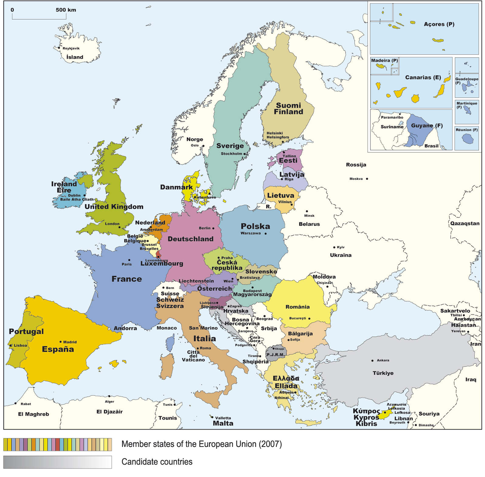 europe map hd with countries. Black Bedroom Furniture Sets. Home Design Ideas