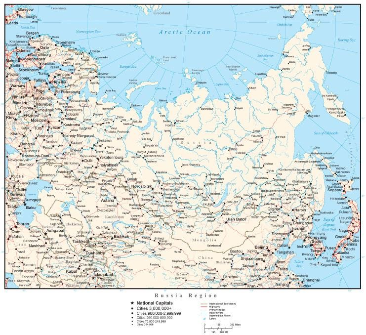 Map Of Russia With Cities - Map of russian cities