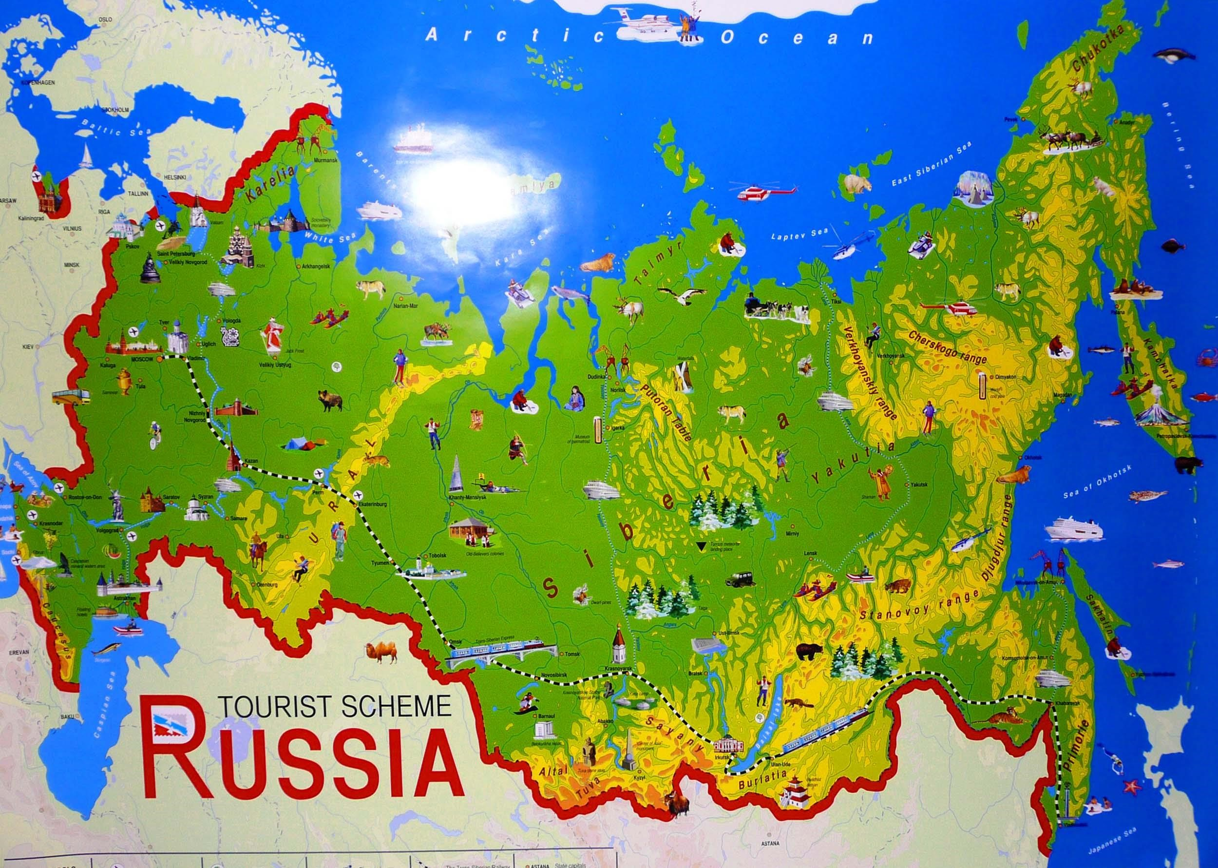 RussiaTouristMapjpg Map Pictures