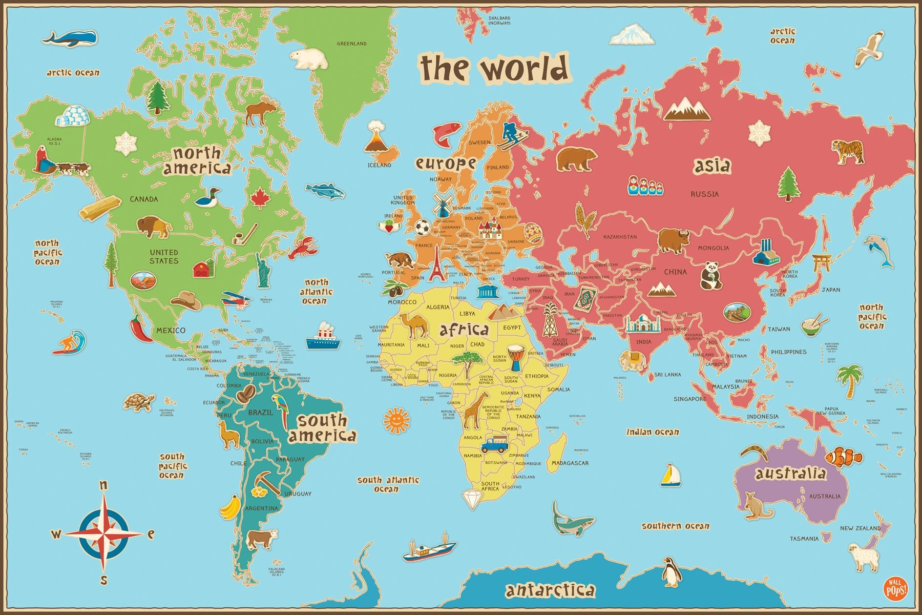 Mesmerizing image intended for printable maps for kids