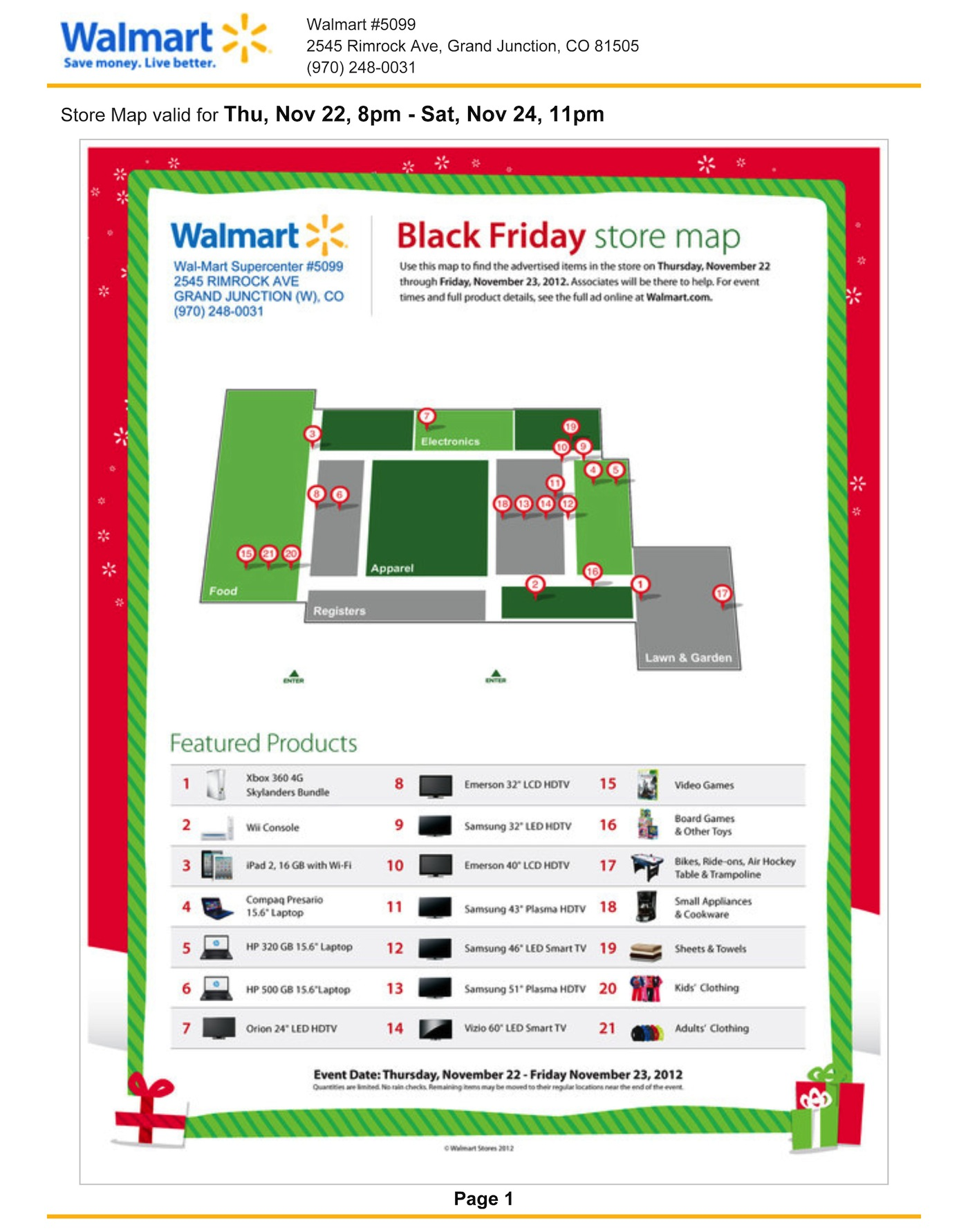 Walmart Black Friday Store Map Walmart Black Friday Store Map1.   Map Pictures