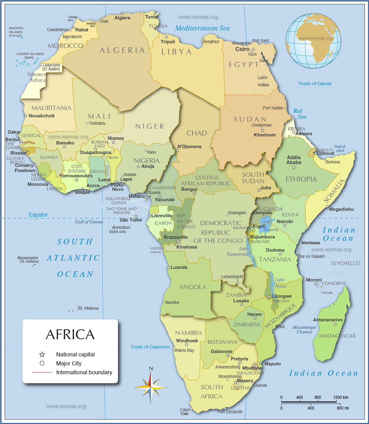 Africa Political Map Map Pictures