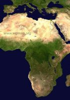 africa satellite view map