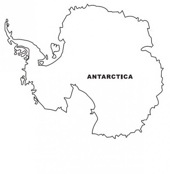 Beautiful Antarctica Map Coloring Page W9emp