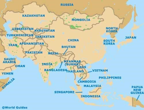 The Continent Of Asia Map.Countries The Continent Of Asia Asia Maps Map Pictures