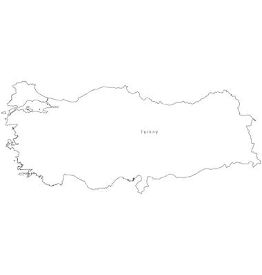 blackwhiteturkeyoutlinemapvector950713jpg Map Pictures