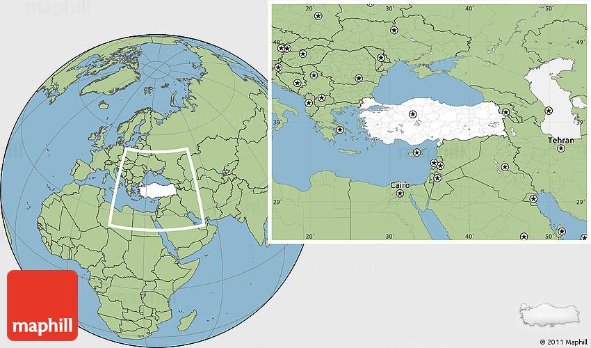 blank-location-map-of-turkey-savanna-style-outside