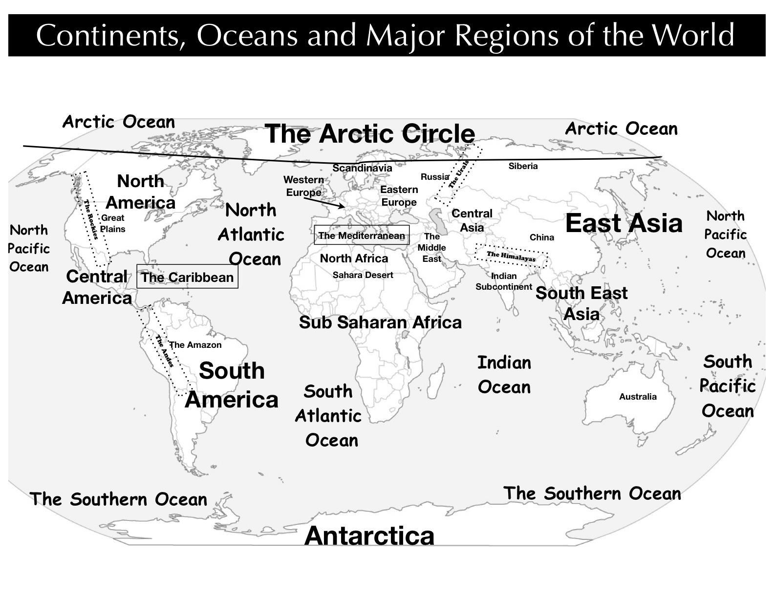 Continentsoceanregionsworldmapg map pictures continentsoceanregionsworldmapg gumiabroncs Image collections
