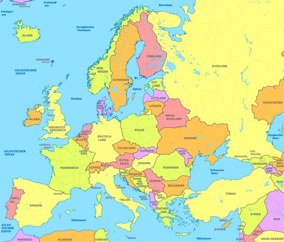 Europe Map Hd With Countries - Map of europe countries