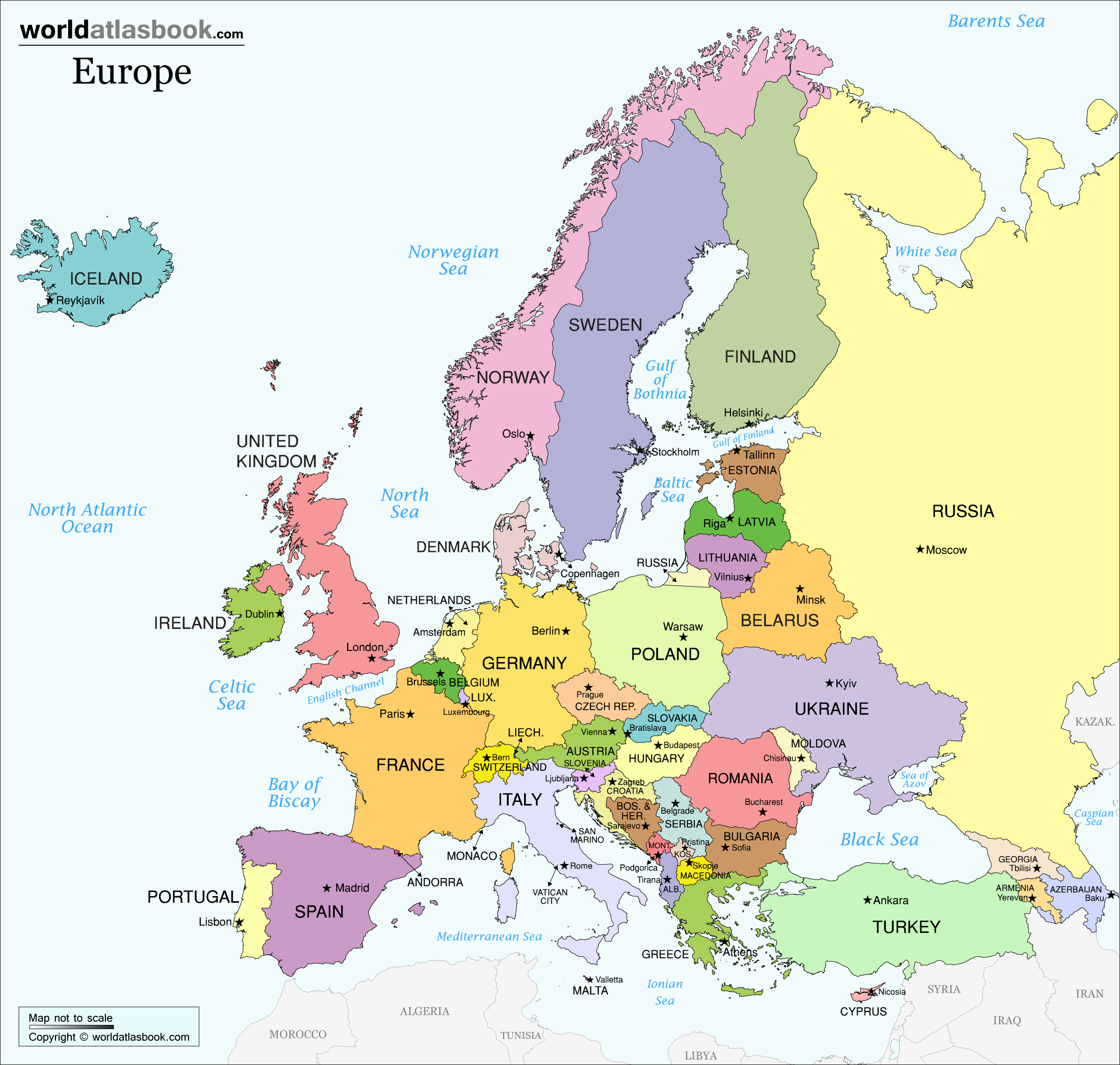 europe map countries capital high resolution