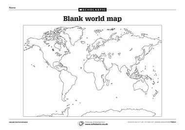 Blank Physical World Map Printable je1107-orld-ap-...