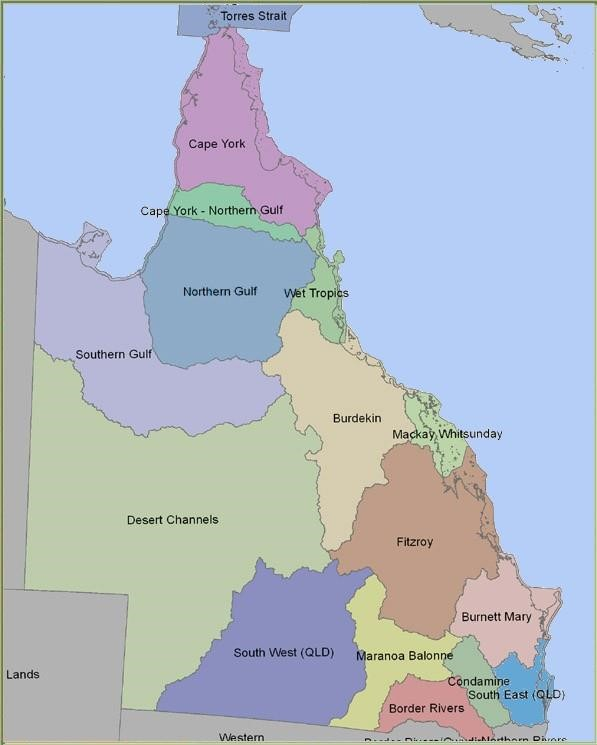 show map queensland