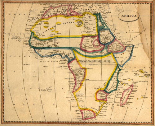map of africa piror to colonization