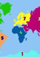 many continents world