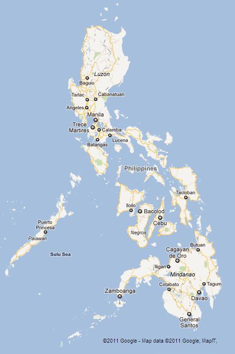 Google Map Of Philippine Islands