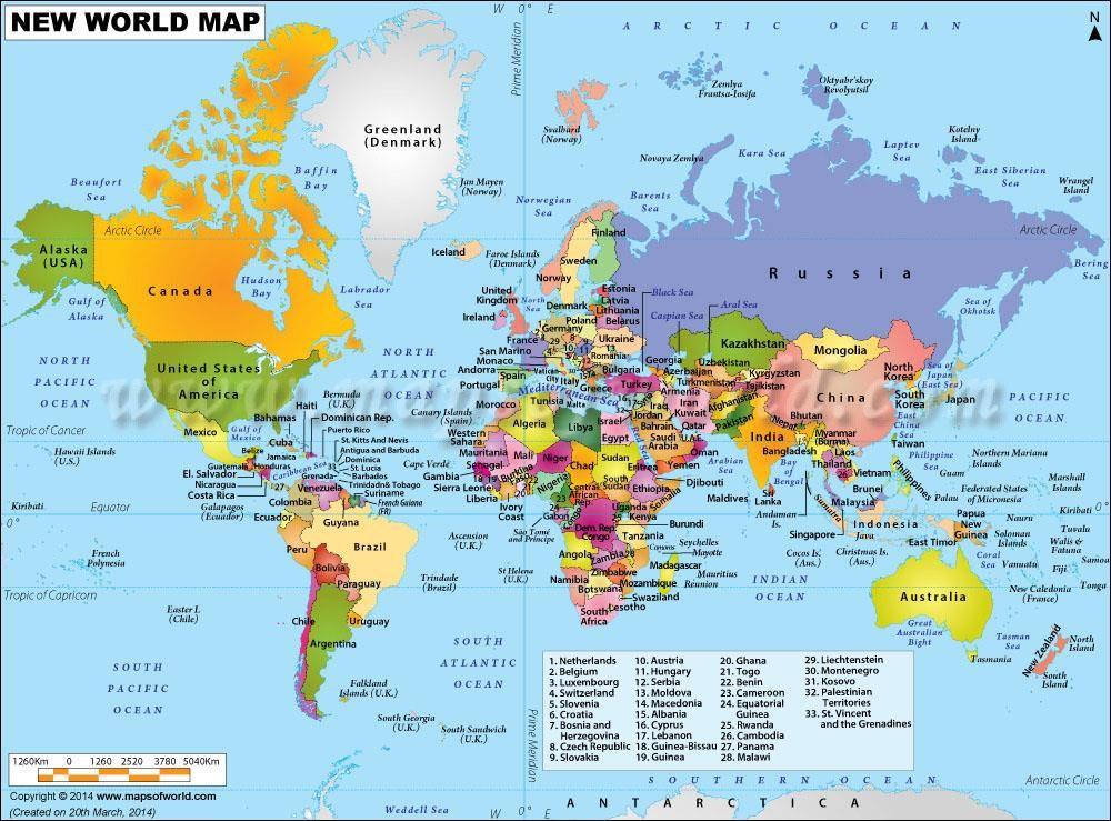 proposed world Map Pictures
